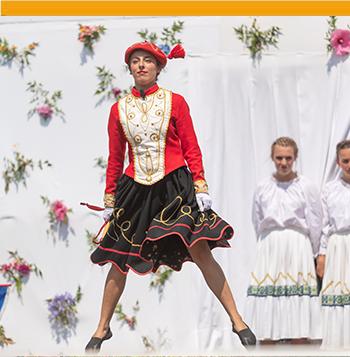 Girl doing traditional Basque dance