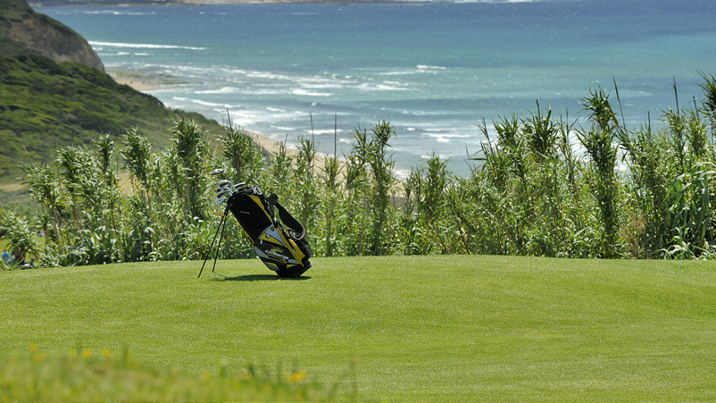 Golf course with ocean view in Biarritz Basque Country