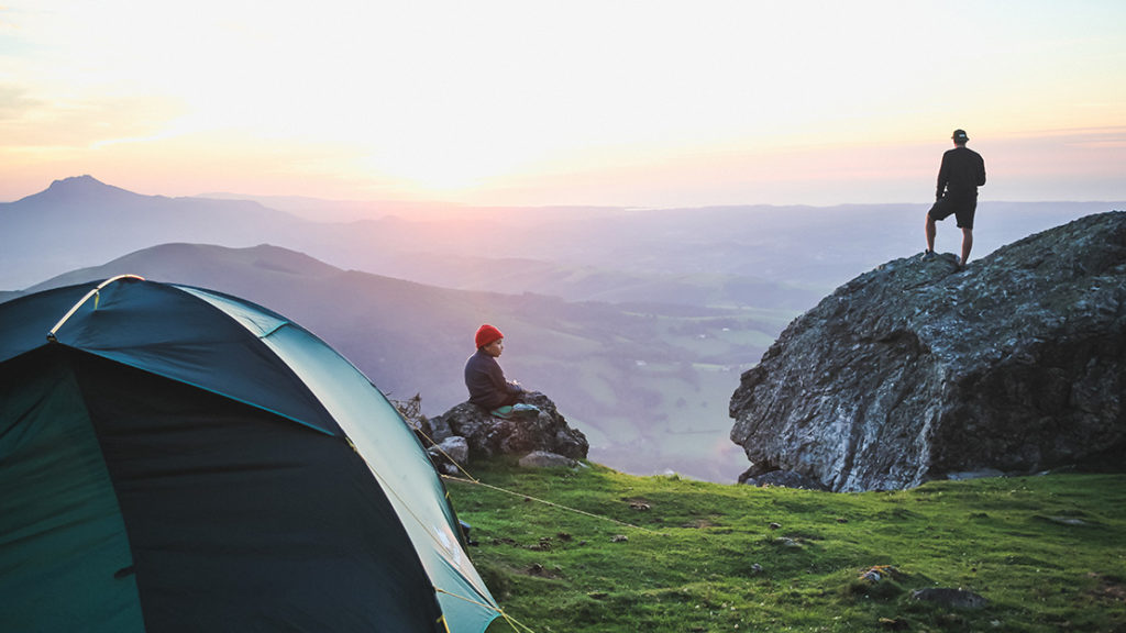 Sleeping in a tent at the top of the Basque Country
