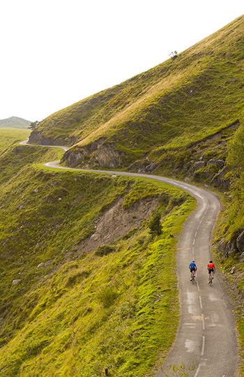 Amazing bike road in the Basque Country