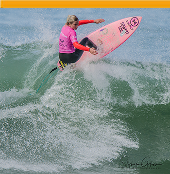 Pro surfer girl in Biarritz Basque Country