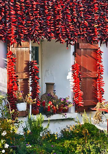 Window of a house in Espelette