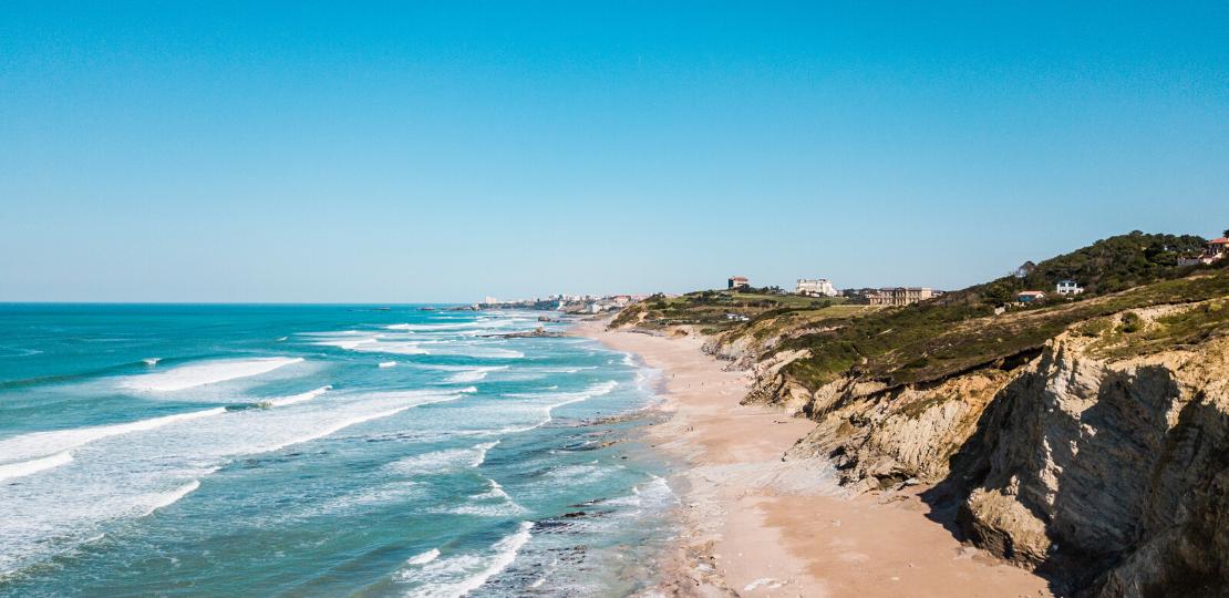 Bidart's beach