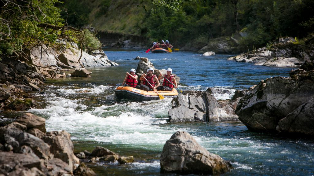 Rafting in the Basque Country