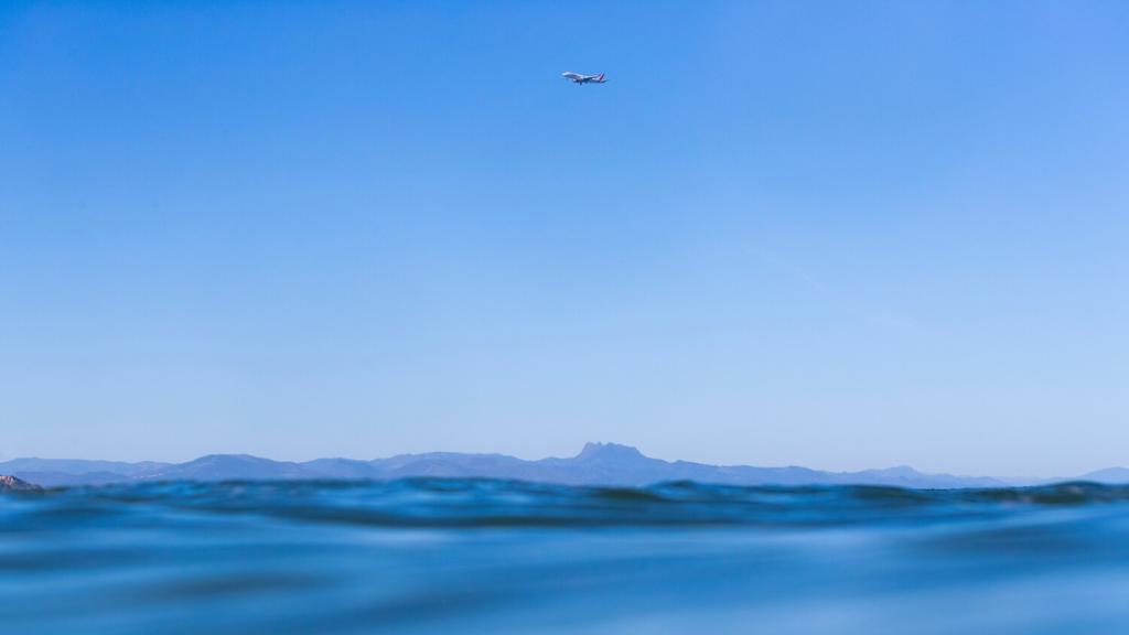 plane on the beach of Biarritz