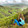 Girl hiking in the Basque Country